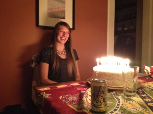 My daughter-in-love Kelsey with her own cake
