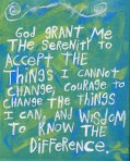 serenity prayer blue green etsy