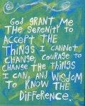 serenity prayer blue green etsy